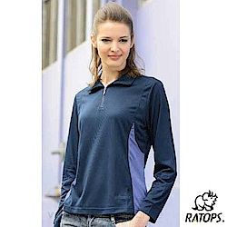 【瑞多仕-RATOPS】女 Coolmax 薄長袖翻領休閒衫_DB8446 暗藍 V
