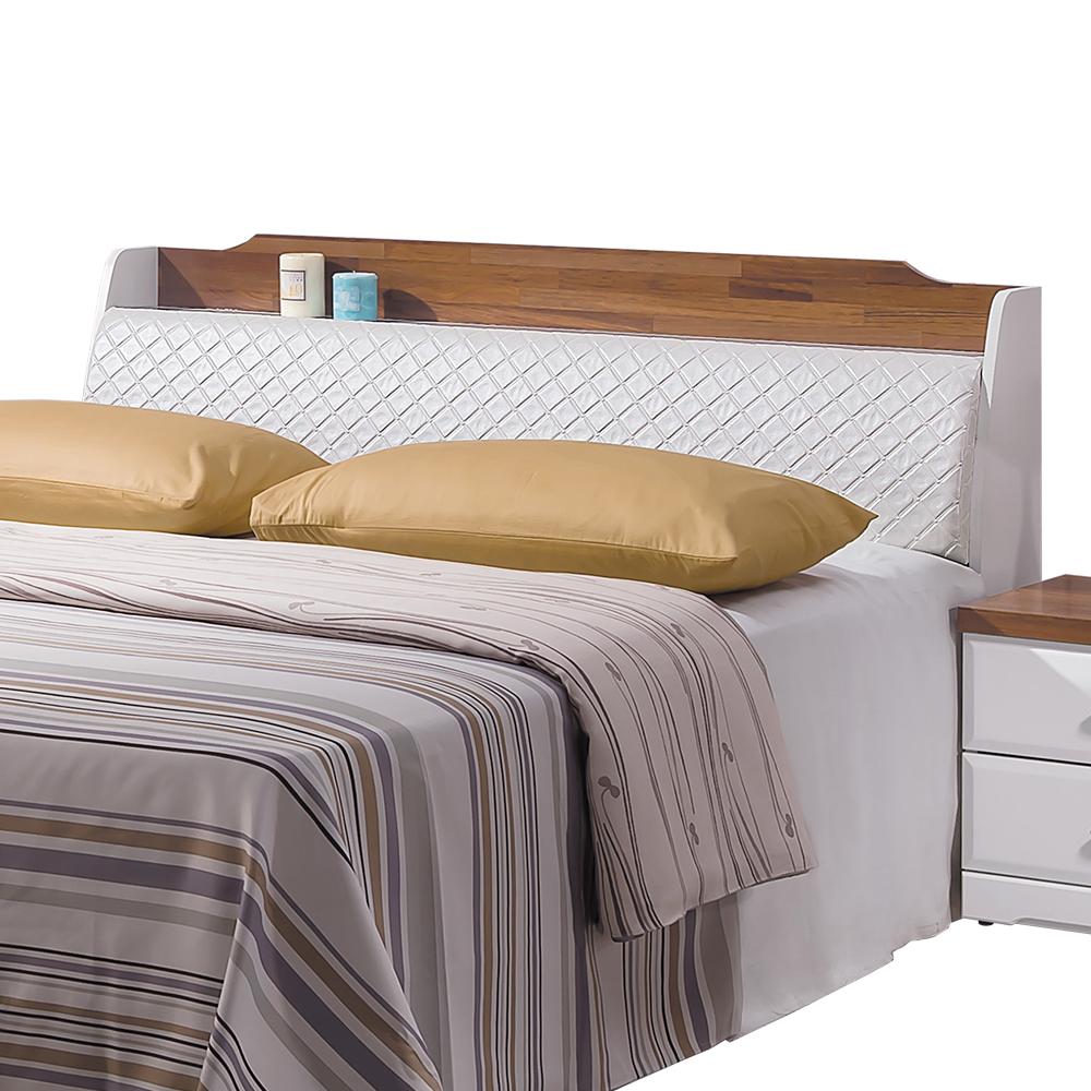 床頭箱 妮芬蒂5尺雙人 柚木白 愛比家具