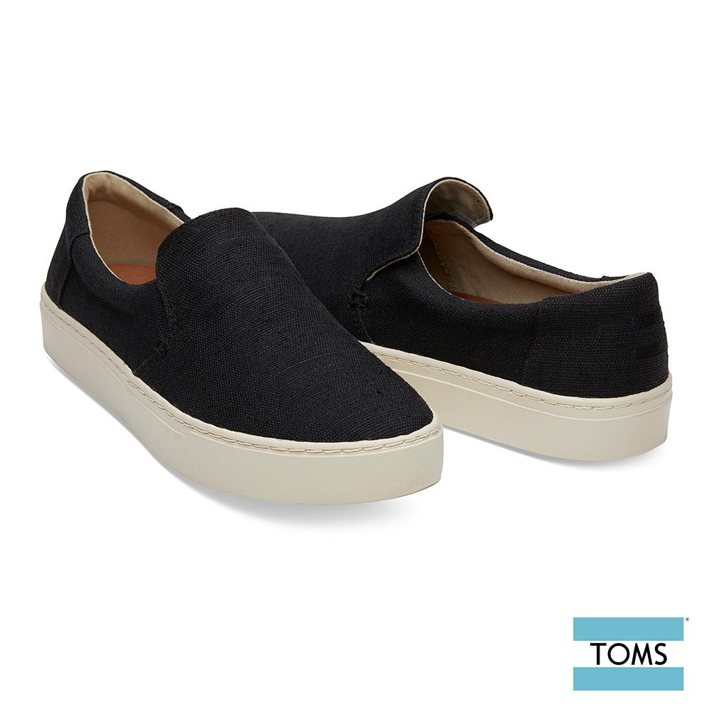 TOMS 純色帆布厚底休閒鞋-男款