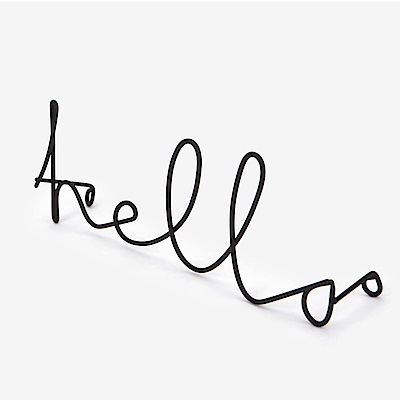 Dailylike 字母造型壁面掛鉤-01 Hello