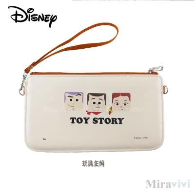 Disney迪士尼皮質橫式手機袋/萬用包/手腕袋_方塊系列_玩具主角