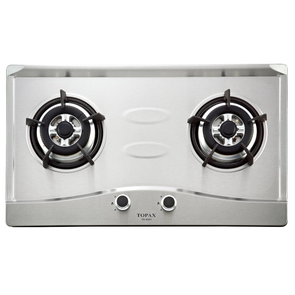 莊頭北 TOPAX 二口節能不鏽鋼檯面爐TG-8501S(桶裝瓦斯)