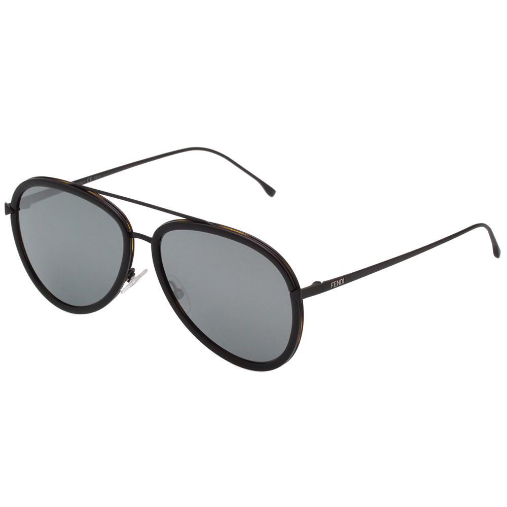 FENDI  雷朋造型 太陽眼鏡 (黑+琥珀)FF0155S