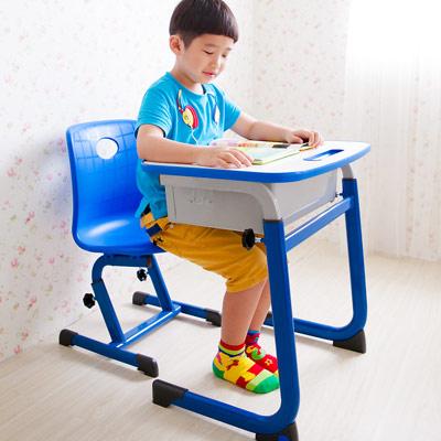 WSH-日式快樂兒童升降學習桌椅組-藍色