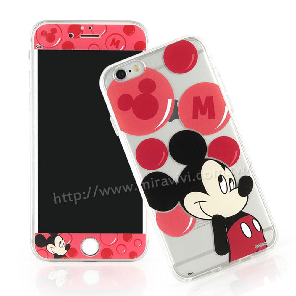 Disney iPhone6/iPhone6s 玻璃保貼+泡泡系列保護套