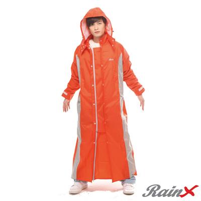 【RainX】一件式透氣防風雨衣(橘)