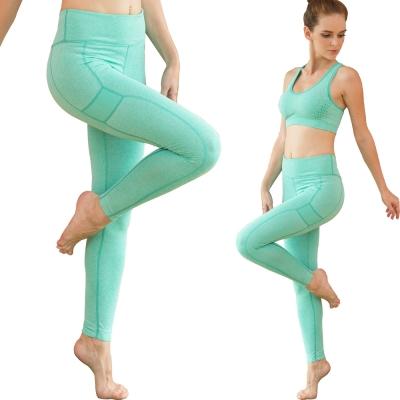 Seraphic-運動快乾彈力壓縮褲一件-湖水綠