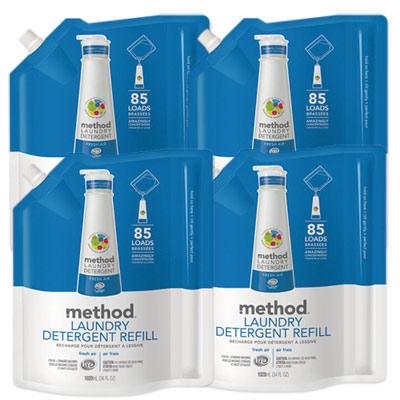 Method美則八倍濃縮洗衣精-清新(補充包)1020ml x4包組