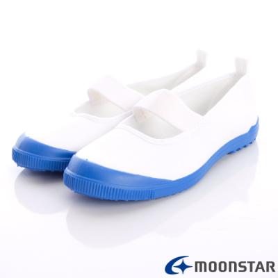 日本Carrot機能童鞋-日本製室內鞋M015藍白中小童段