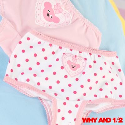 WHY AND 1/2 素雅點點平口內褲兩件組 3Y~14Y