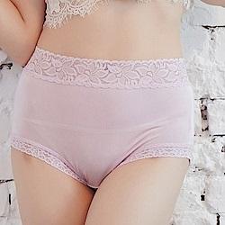 內褲 粉嫩色調100%蠶絲中高腰三角內褲 (紫) Chlansilk 闕蘭絹
