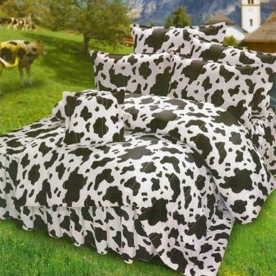 艾莉絲-貝倫 乳牛森林 高級混紡棉 雙人加大鋪棉涼被床包四件組