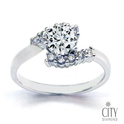 City Diamond『咖啡貓眼』35分鑽戒