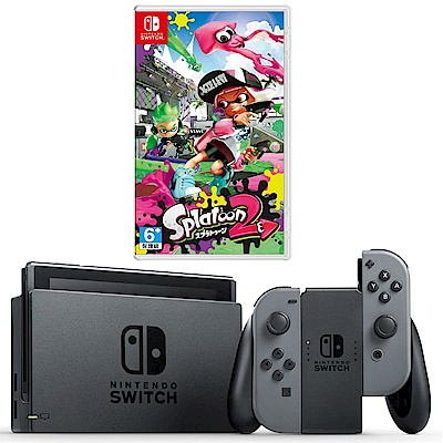 任天堂Nintendo Switch-灰 Joy-Con(漆彈大作戰)