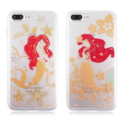 Disney 迪士尼iPhone 7 Plus金蒔繪雙料保護殼-艾利兒系列