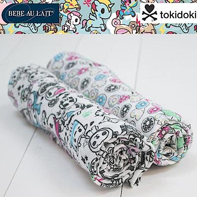 美國 Bebe Au Lait 經典棉紗布包巾2入禮盒(甜甜圈共和國)