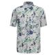 【hilltop山頂鳥】男款抗UV吸濕快乾短袖襯衫S06M57-深藍/卡其印花 product thumbnail 1