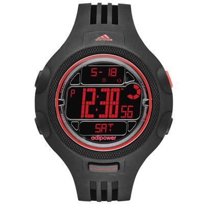 adidas 勁戰狙擊大面板金屬電子錶-紅x黑/53mm