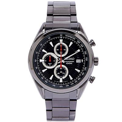 SEIKO 精工冒險概念三眼計時腕錶(SSB179P1)-灰黑/45mm