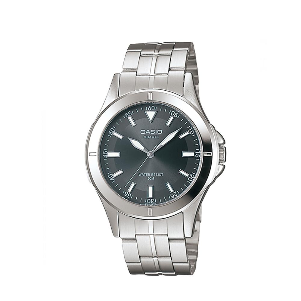 CASIO 都會城市新風格指針錶(MTP-1214A-8A)-深灰色/37mm