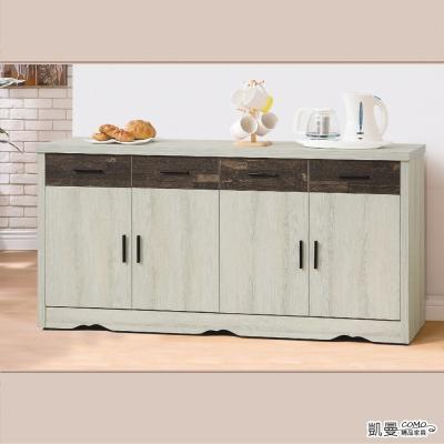 凱曼 萊蘿杰5.3尺雙色餐櫃收納櫃(二色可選)