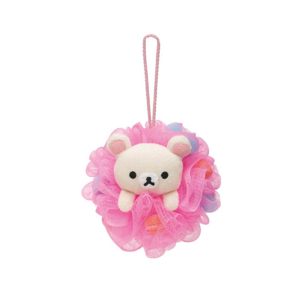 拉拉熊我愛生活系列立體造型沐浴球。懶妹