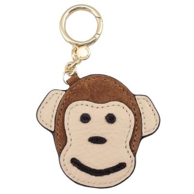 MICHAEL KORS 可愛猴子造型皮革吊飾(焦糖)