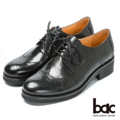 bac英倫學院 率性時尚牛津鞋-黑色
