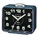 CASIO 夜間指針桌上方型簡約鬧鐘(TQ-218-2DF)-藍X黑面 product thumbnail 1