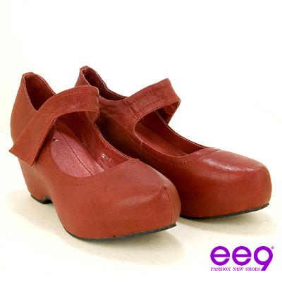 ee9 率性風格摩登頂級羊皮高跟鞋~躍動紅
