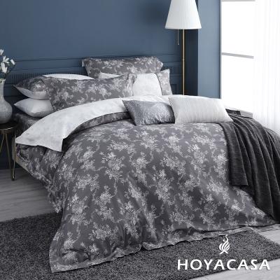 HOYACASA香榭麗舍 特大六件式300織長纖細棉兩用被床包組-配加大被套-贈舒眠枕2入