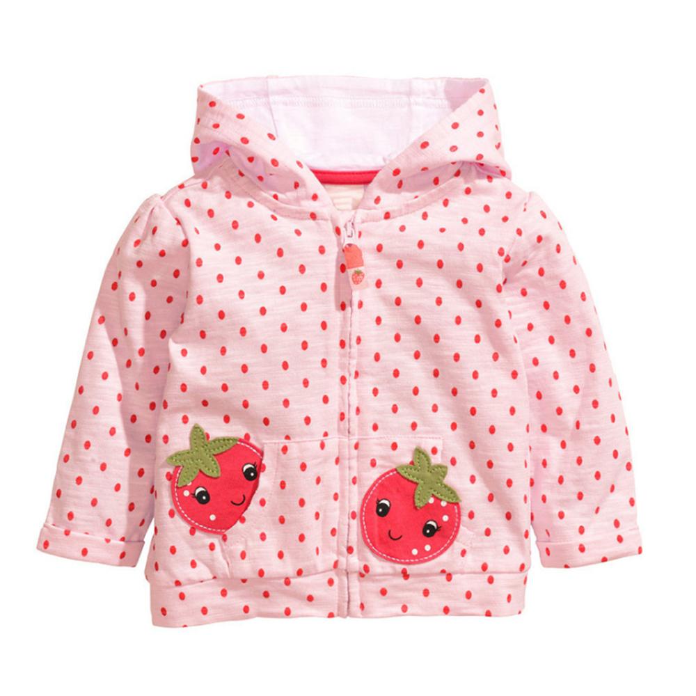 小草莓-連帽 保暖外套-點點粉-女童