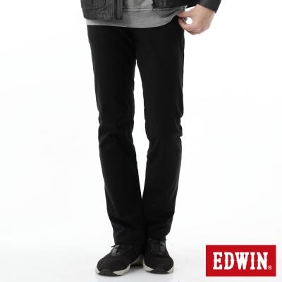 EDWIN 中直筒 EDGE保溫褲-男-黑色