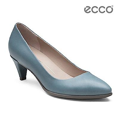 ECCO SHAPE 45 POINTY SLEEK 經典細跟尖頭跟鞋-藍