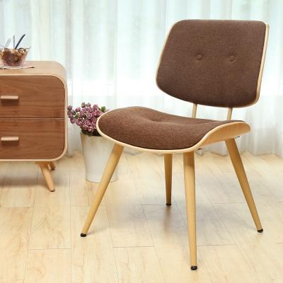 H&D Becky貝奇和風木作布單椅/餐椅/工作椅-咖啡色