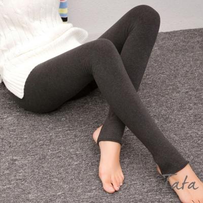 鬆緊腰加絨彈力內搭褲-踩腳款-共三色-TATA