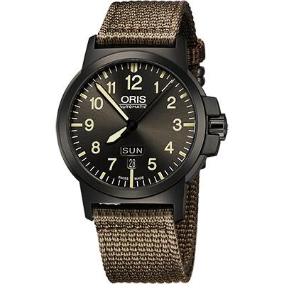 Oris BC3 Advanced 日曆星期機械腕錶-鐵灰x墨綠/42mm