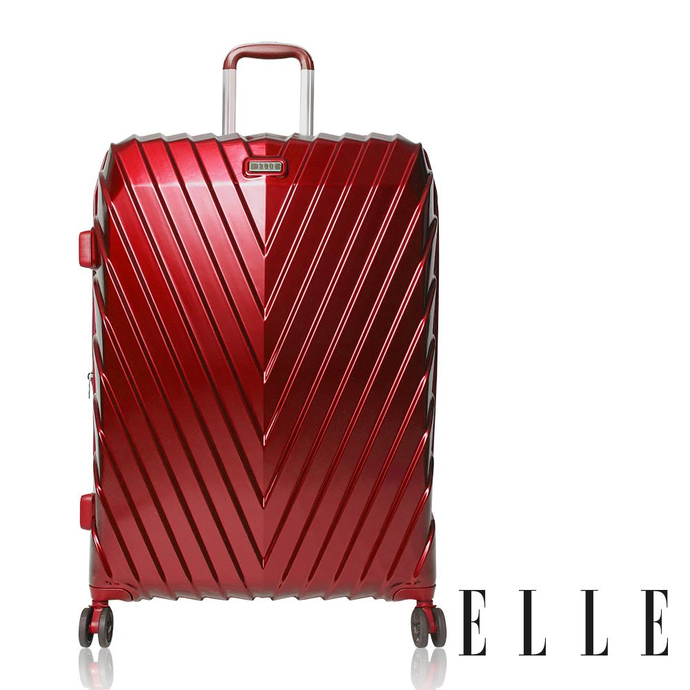 ELLE 法式V型鐵塔系列- 20吋純PC霧面防刮耐撞行李箱-野薔薇EL31199
