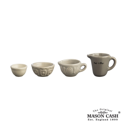 MASON BAKER LANE系列陶瓷量杯4件組(淺咖啡)
