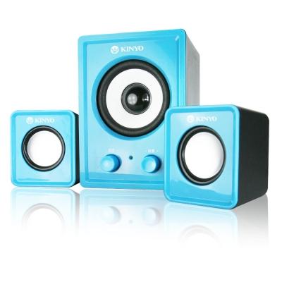 KINYO【音樂大師】魅力肆色USB 2.1立體擴大喇叭US-179-晴空藍