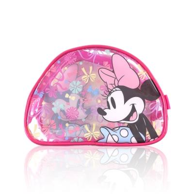 Disney迪士尼經典防水透明米妮化妝包 萬用包