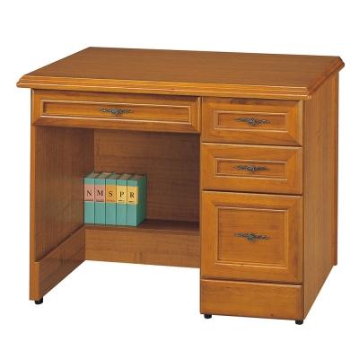 Boden-奧布芮3.5尺實木樟木色辦公桌-免組