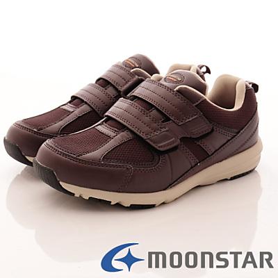 日本Supplist戶外健走鞋-防潑水4E輕量款-ON532酒紅(女段)