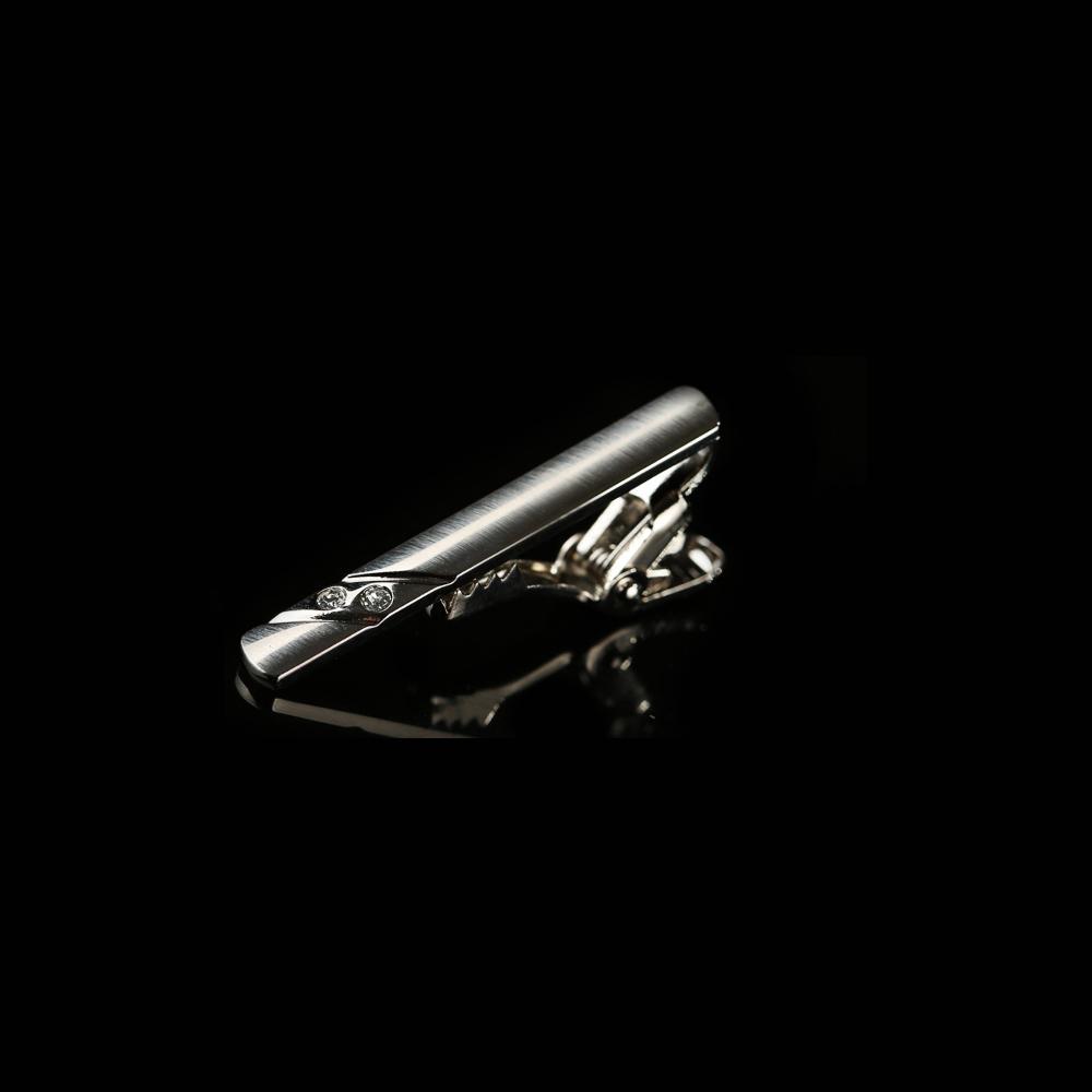 拉福 領帶夾窄版領帶夾窄領夾斜鑽(4cm)