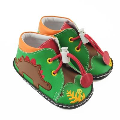 愛的世界 森林恐龍寶寶鞋(高筒)/學步鞋-台灣製-