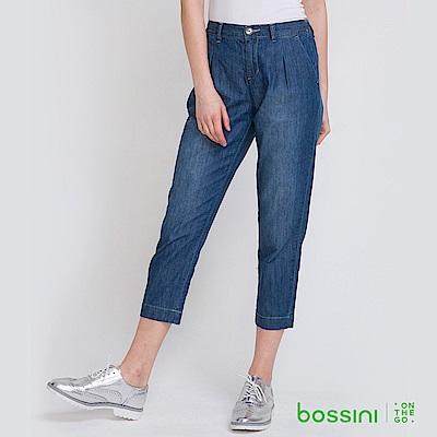 bossini女裝-牛仔寬鬆七分褲01海軍藍
