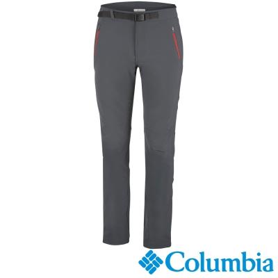 【Columbia哥倫比亞】男-快排彈性長褲-墨灰色 UAM86790IG