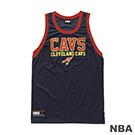 NBA-克里夫蘭騎士隊經典印花長版背心-深藍