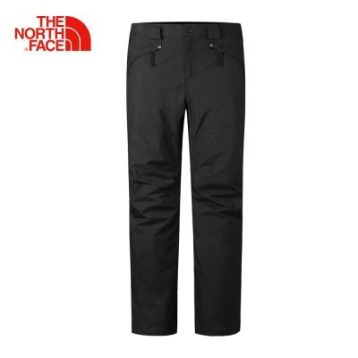The North Face北面男款黑色保暖防水透氣滑雪長褲