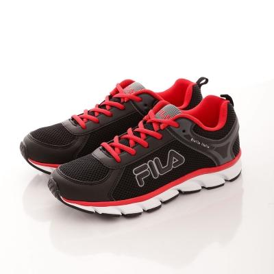 FILA 男款 Biella  Ltalia 走路 慢跑鞋~黑紅